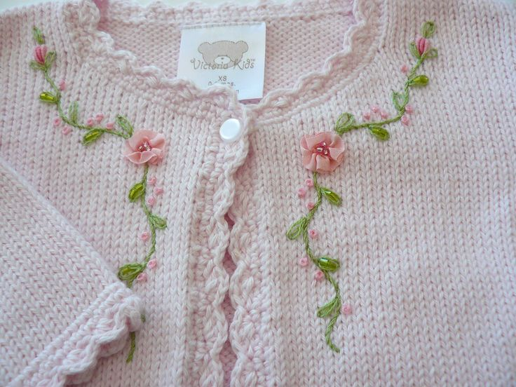 Sweet embroidery on baby's sweater