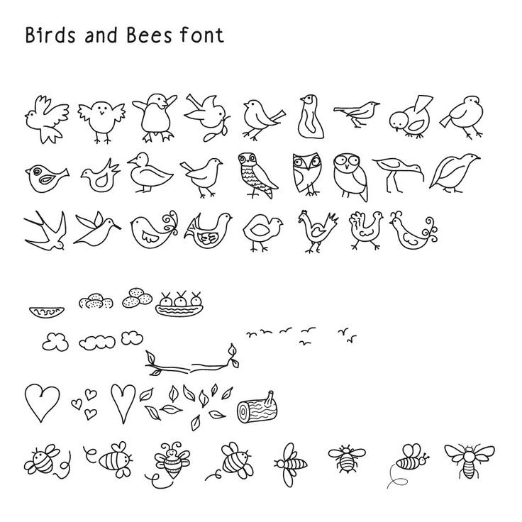 1000+ Images About Fonts, Dingbats & Doodles On Pinterest