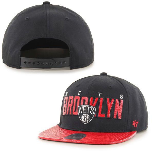 Brooklyn Nets '47 Brand Hardwood Classics Redondo Snapback Hat – Black - $33.99