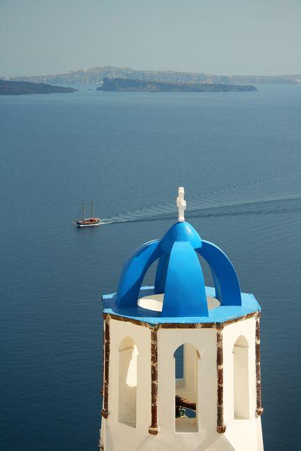 Yes, yes. Santorini, Greece