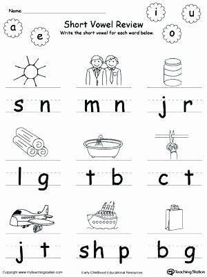 Short Vowel Worksheet Kindergarten Short Vowel Coloring