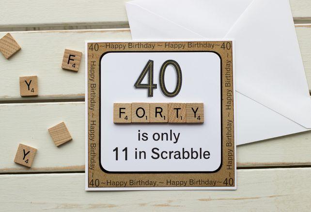 Scrabble lettre Tasse Et Coaster 40th Anniversaire