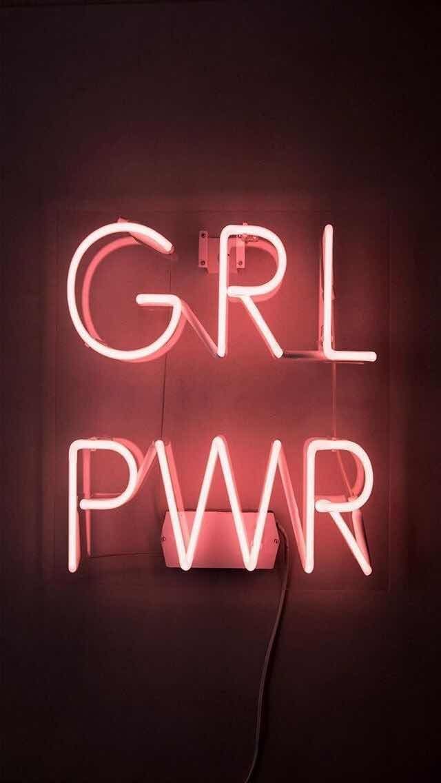 Iphone And Android Wallpapers Girl Power Neon Light Wallpaper For