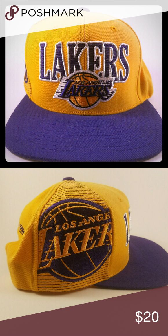 Los Angeles Lakers Snapback Hat was purchased for Kobe Bryant's final NBA game. Worn a few times but still in great condition! Mitchell & Ness Accessories Hats