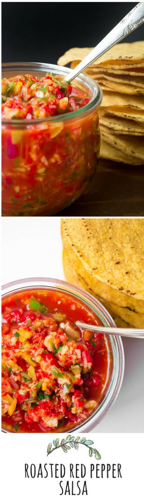 This vibrant restaurant style salsa is made without tomatoes, and brightens up anything and everything!