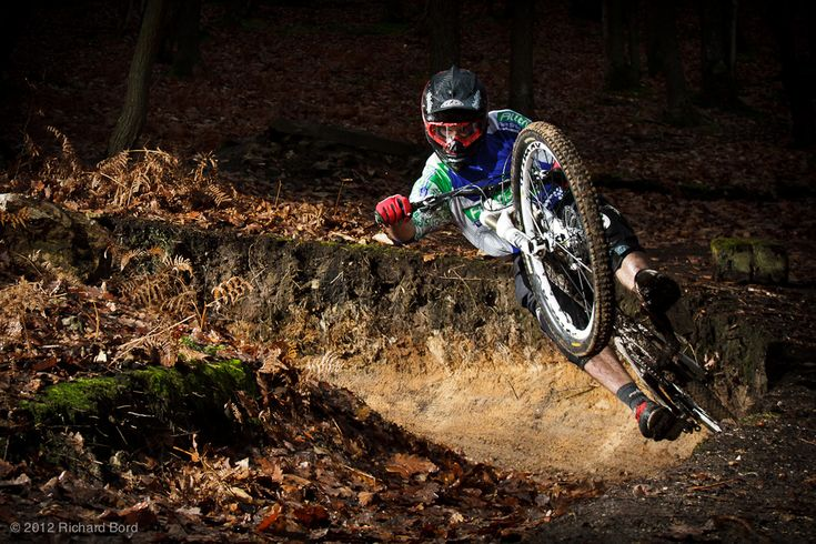 Ripping out of that berm. #MTB downhill, awesome shot!