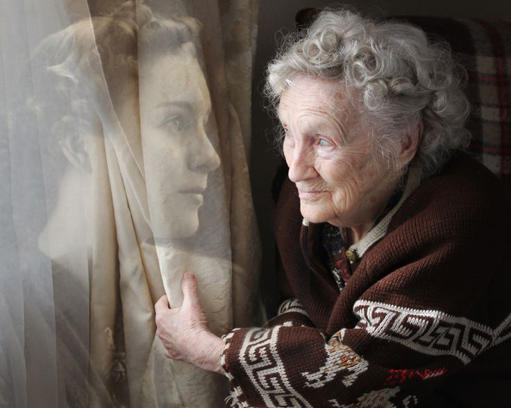 "Pinner says ""This is a portrait of my grandmother at 21 on the left and 92 on the right, composited in Photoshop, 2011."""