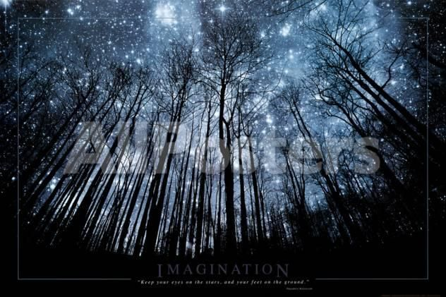 Imagination Keep Your Eyes on the Stars and Your Feet on the Ground by Craig Tuttle Landscapes Poster - 91 x 61 cm
