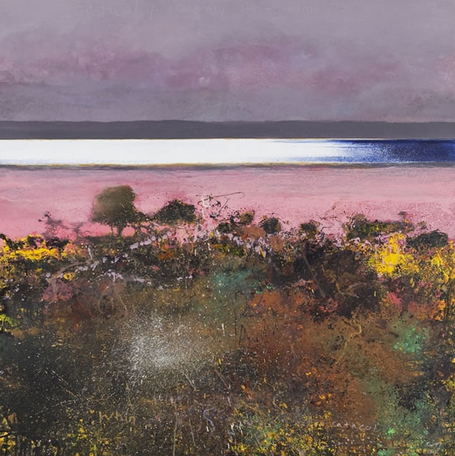 Kurt Jackson. Catacol gorse and thrift /whin and sea pinks. 2012