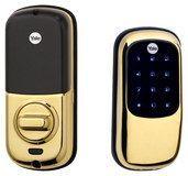 Yale - Key-Free Touch-Screen Deadbolt Lock - Polished Brass