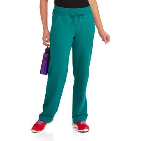 Athletic Works Women's French Terry Athletic Pants--Available in Regular and Petite Lengths, Size: M Petite, Blue