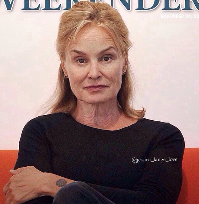 Jess successfully and effortlessly slaying lives without makeup! Always stunning! 😍 -----------------------------#jessicalange #queen #model  #americanhorrorstory #nomakeup #inspiration #queen #celebrity #ahs #theatre #film #barefaced #beauty #stunning #television #actress #movie #sexy #tv #photooftheday #hollywood #newyork  #classic #iconic #timeless #timelessbeauty #photography #newyorkcity #feud #women