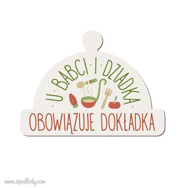 """Magnes drewniany """"U Babci i Dziadka"""" w Spodlady na DaWanda.com"""