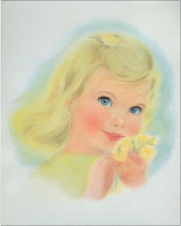 Baby  #pastel #antique #art