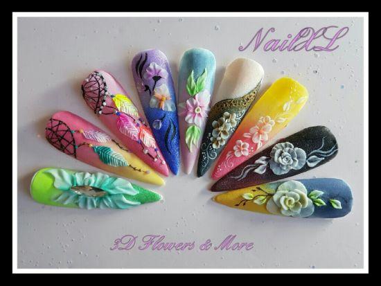 Cursus 3D Flowers & More » Nail XL - groothandel nagelproducten en nagelstyliste opleiding