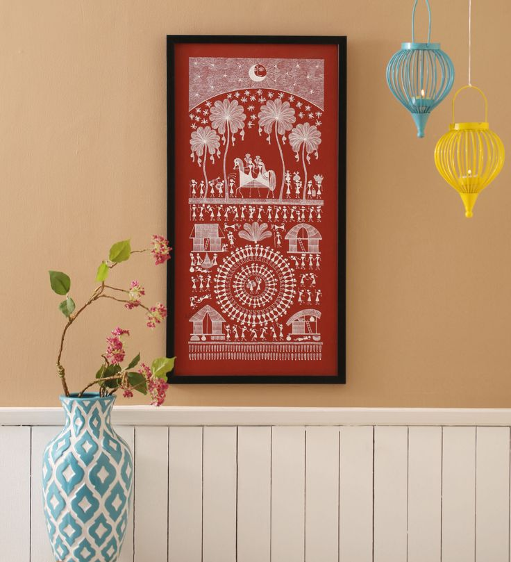 Framed Warli Painting