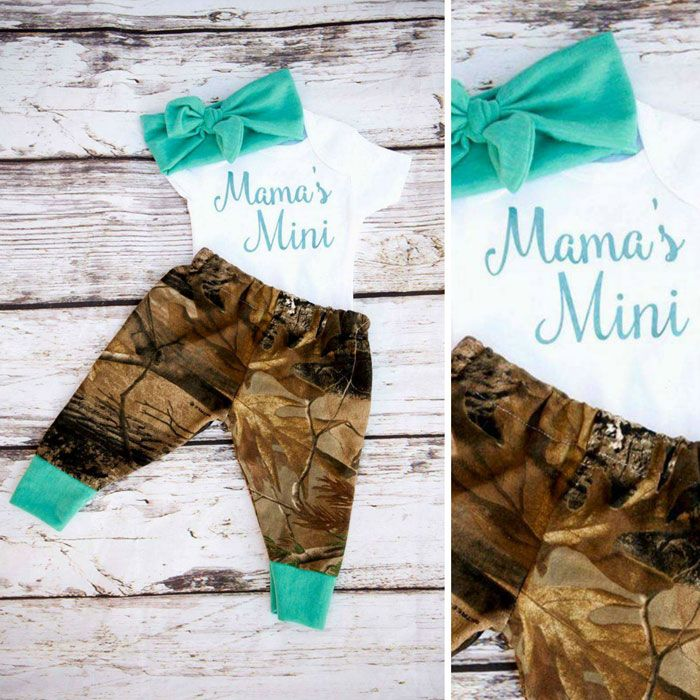 Mama's Mini Camo Baby Outfit