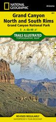 • Waterproof • Tear-Resistant • Topographic Map National Geographic's Trails Illustrated map of Grand Canyon National Park, North and South Rims is designed to meet the needs of outdoor enthusiasts wi