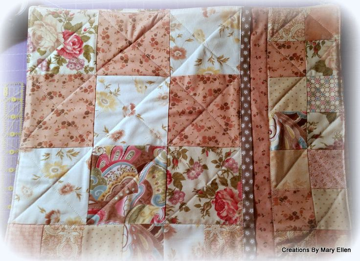 Set of 6 peaches and cream placemats by mopdahl on Etsy