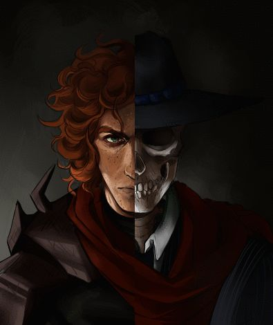 Skulduggery Pleasant. I find it interesting that he is depicted as a red head