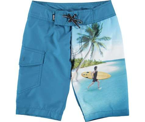 Mens Beach Surfing Boardshorts Swimming Trunks Red Barn Shorts