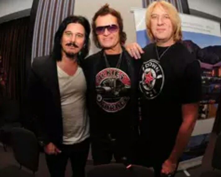 With Glenn Hughes and Gilby Clarke