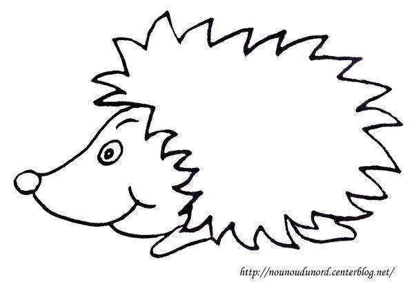 Coloriage hérisson dessiné par nounoudunord