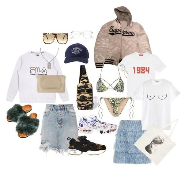 """Festival"" by laerkekb ❤ liked on Polyvore featuring Ksubi, Chanel, Lacoste, Balmain, Reebok, Alice McCall, Loewe, Vetements, Supreme and Gosha Rubchinskiy"