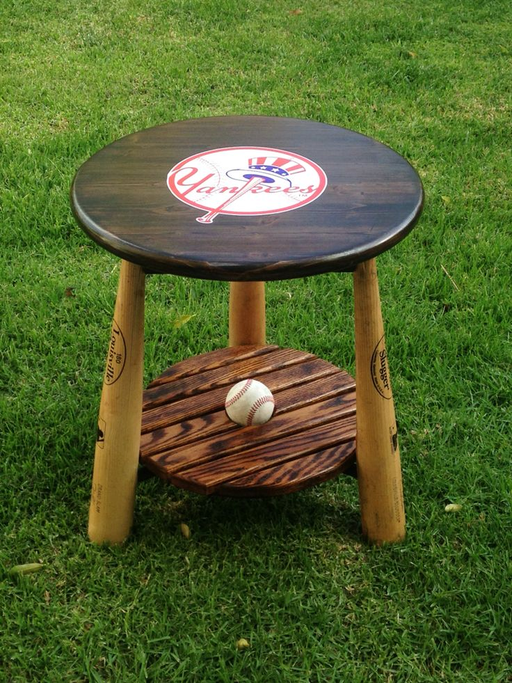 Yankees table for a customer in Michigan, with slot for baseball with an autograph you may want to display.
