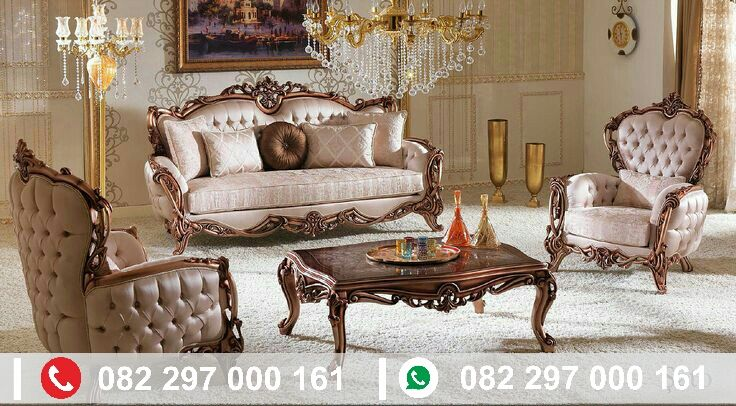 Kursi sofa mewah Jepara terbaru, hadir dengan bahan baku kayu jati tpk berkualitas. Dan di produksi langsung dari kota jepara