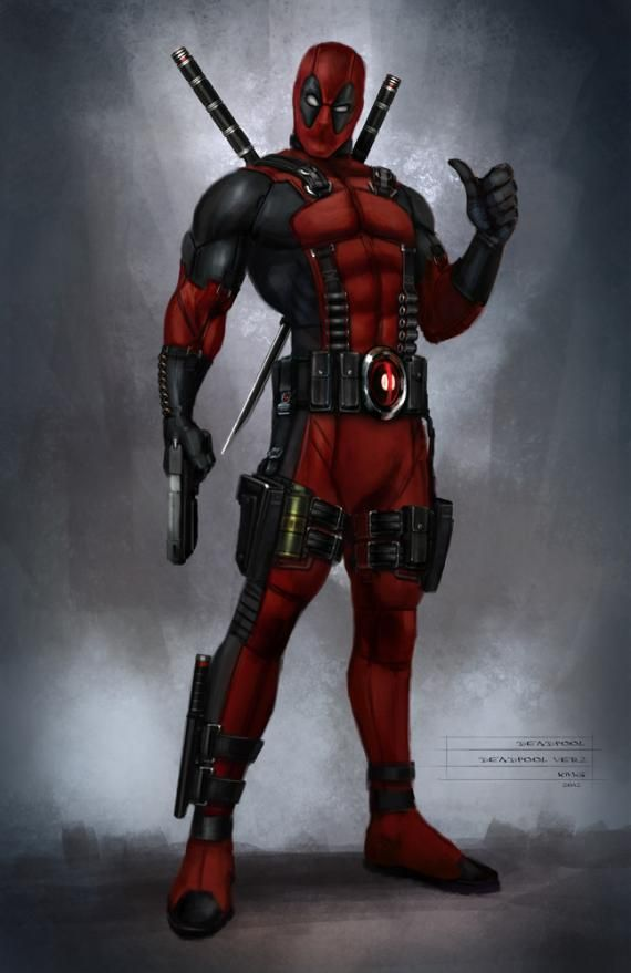 Concept art del videojuego Deadpool (2013), por Billy King