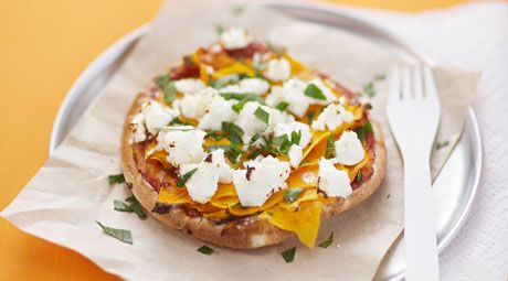 Pumpkin and feta pizza