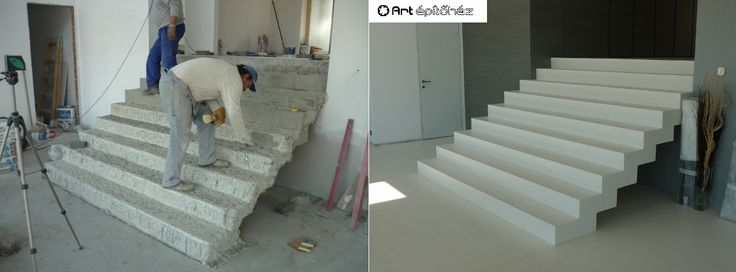 before after stairs. It does not always manage to make good concrete steps. But there's a company who can solve this problem.