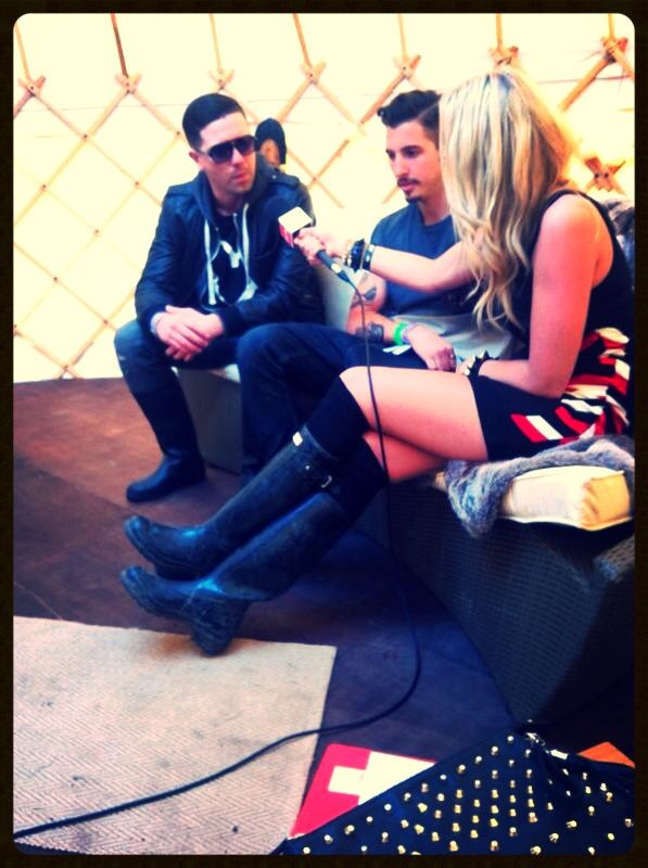 interviewing my friends Tough Love at We Are FSTVL in 2013!