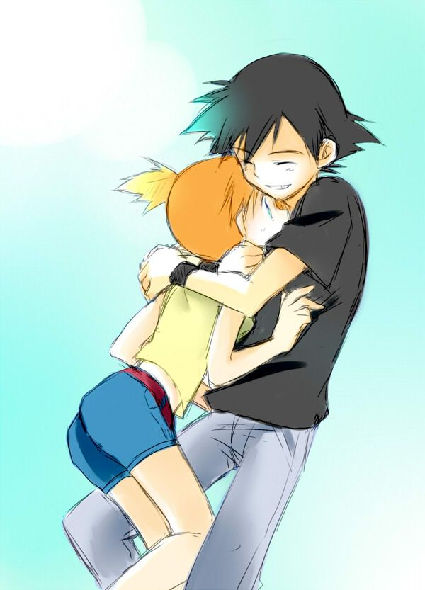 I actually dont ship ash and misty but this is a cute picture all the same