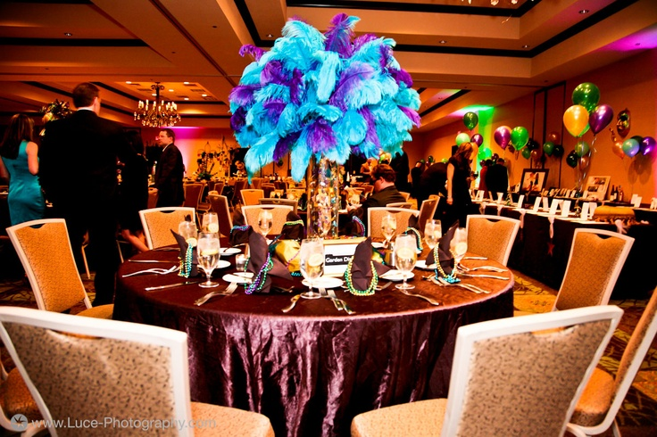 Mardi Gras Centerpiece | SocialTables.com | Event Planning Software