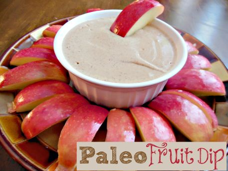 {Paleo} Fruit Dip: use honey instead of agave