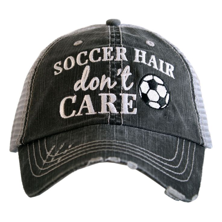 HAT - TRUCKER HAT - SOCCER HAIR DON'T CARE