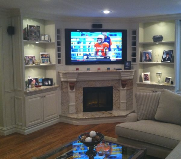 corner tv living room design