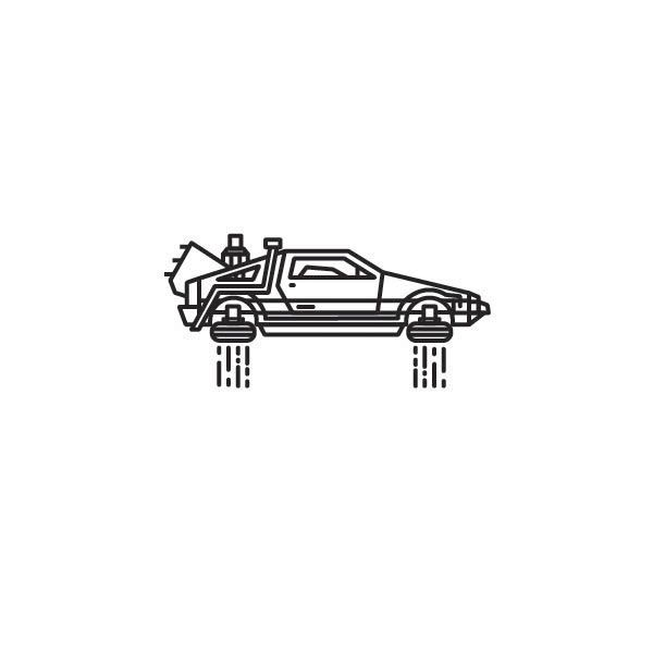 Delorean on Behance