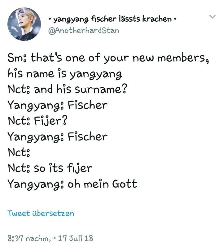 Just Imagine How Funny It Would Ve Been If His Surname Was Actually Fischer Nct Funny Names