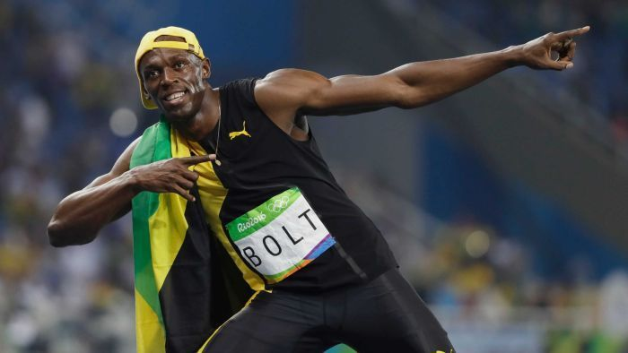 'Lightning' strikes thrice as Bolt completes 100m hat-trick -   .