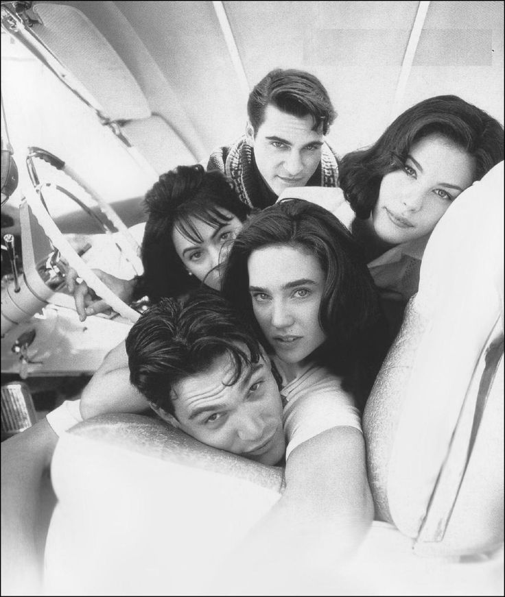 Joaquin Phoenix, Liv Tyler, Jennifer Connelly, Billy Crudup, and Joanna Going from 'Inventing The Abbots' (1997)
