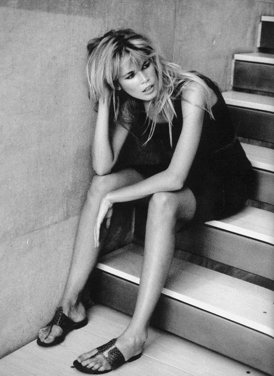 Peter Lindbergh captures Claudia Schiffer's louche mood in Mexico, 1995.
