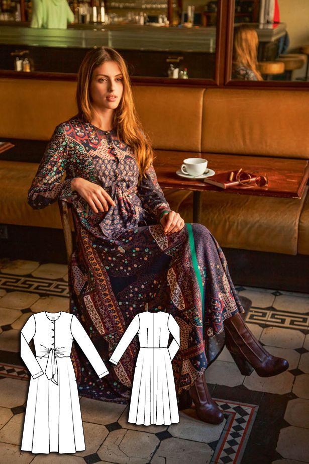 BurdaStyle maxi dress 112-092015-B