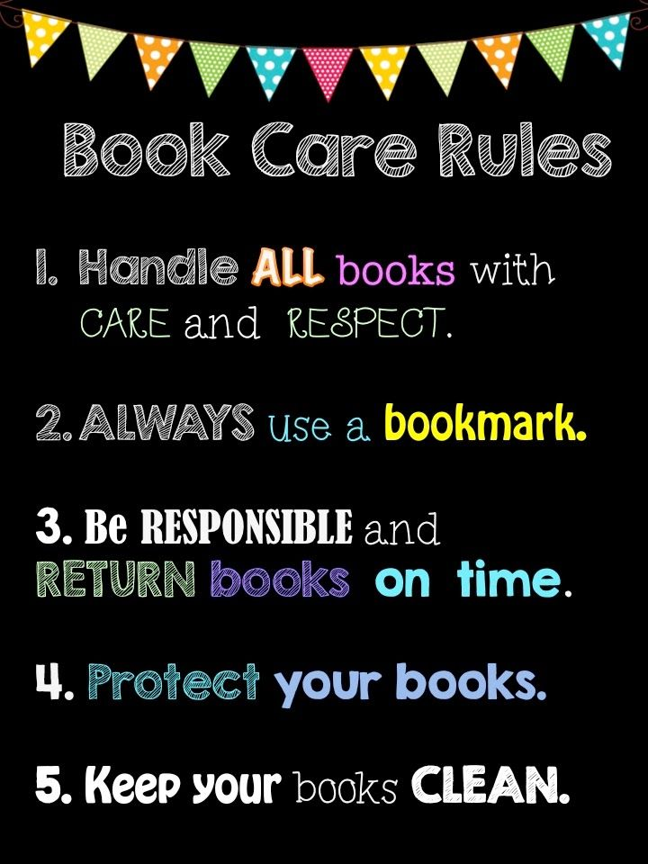 elementary library rules - Google Search                                                                                                                                                     More