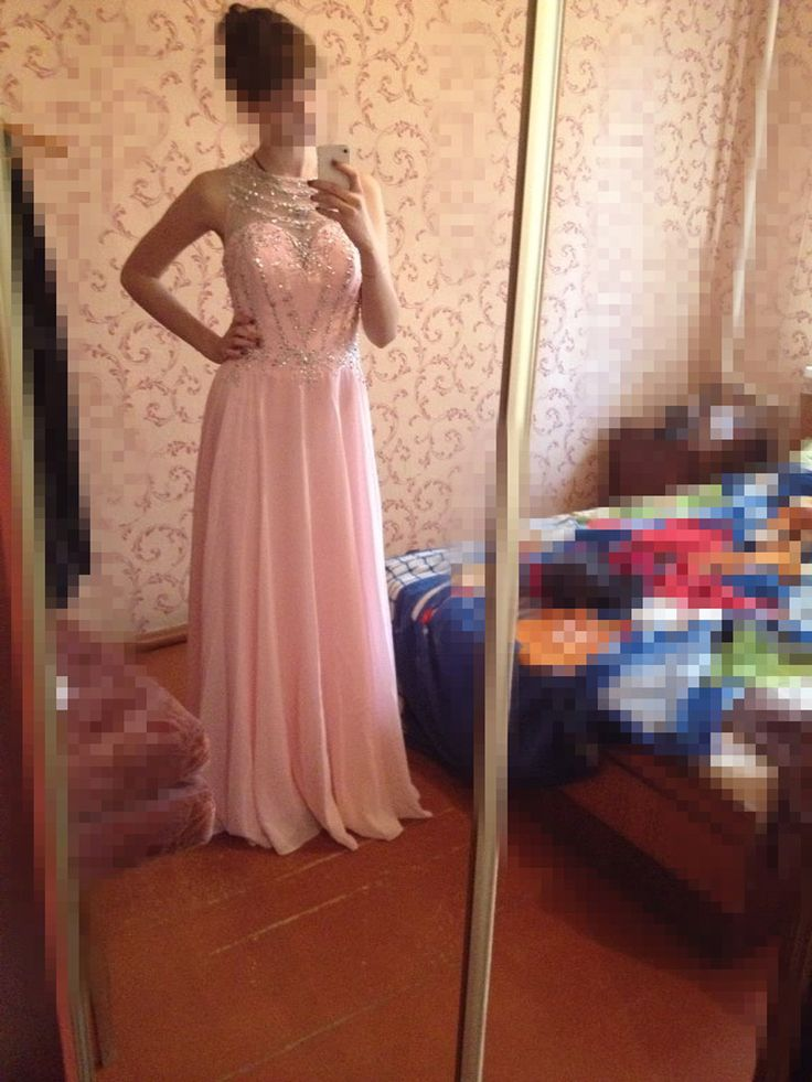 Vestido De Festa Real Photos Prom Dress 2017 O-Neck Sleeveless Cover Back Sweep Train Chiffon with Crystal 2017 Evening Dresses