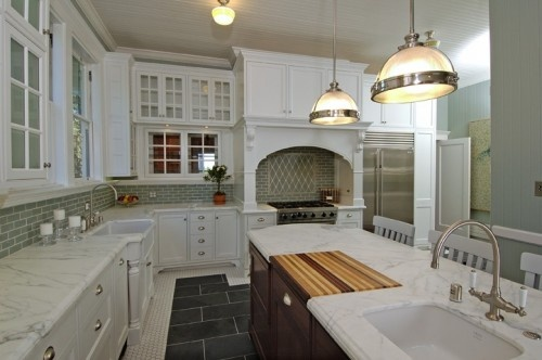 Amazing use of different materials love the bakers for Different materials for kitchen cabinets