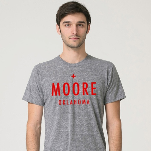 Moore Tornado Relief Benefit Tee - 100% of the proceeds will go to the Oklahoma tornado relief efforts of the American Red Cross in Moore, OK - via shopgoodokc.com $25