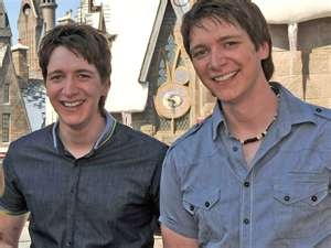 james and oliver phelps     aka the weasley twins